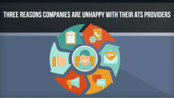 graphic explaining three reasons companies are unhappy with their ats providers