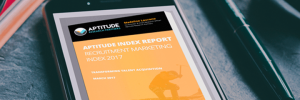 smartphone displaying the recruitment marketing index 2017 report