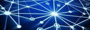 blue digital network web