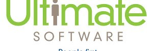 ultimate software logo with slogan underneath