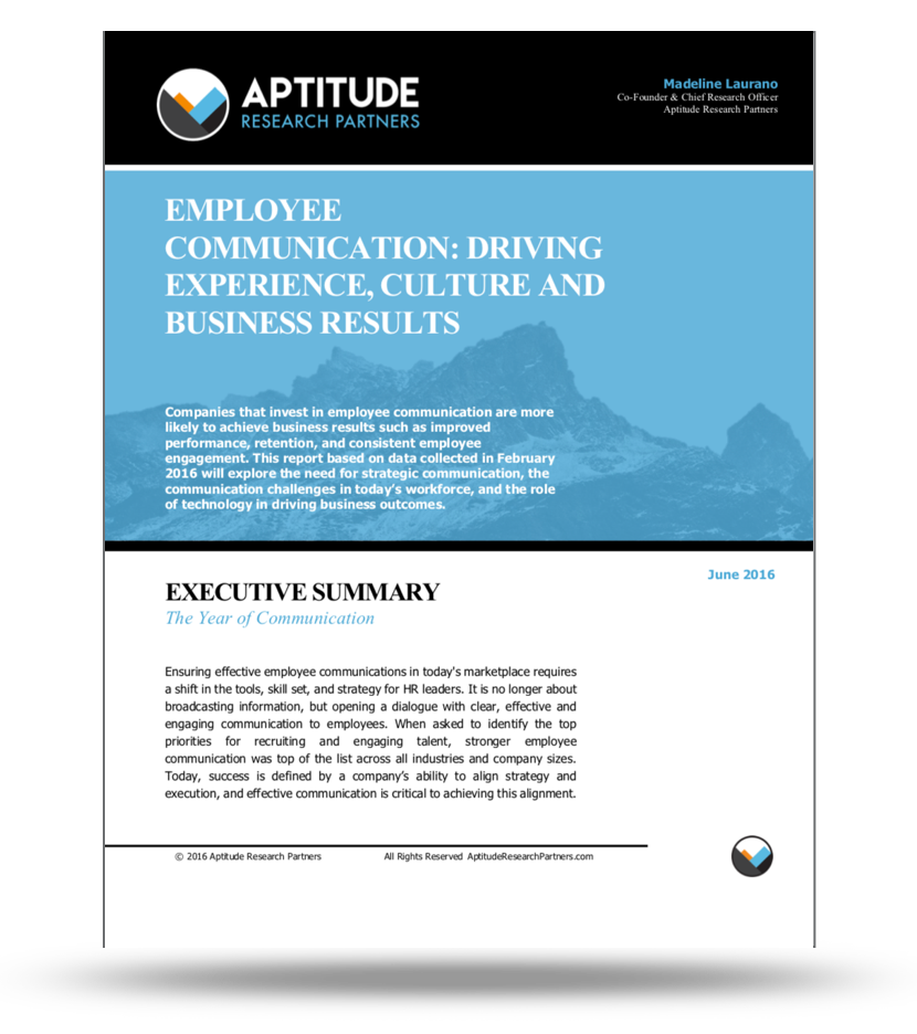 Employee Communication: Driving Experience, Culture and Business Results